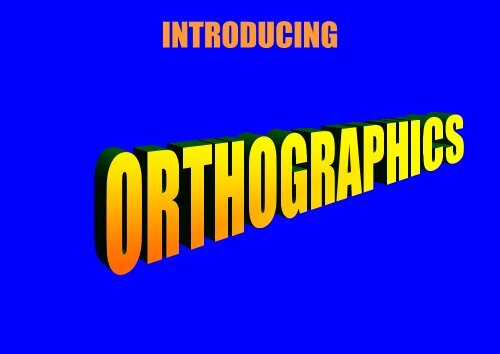 Orthographic Introduction Pdf
