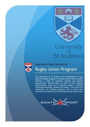 Rugby programme - University of St Andrews