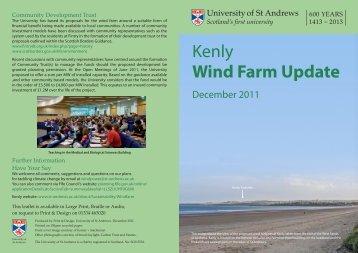 Kenly Wind Farm Update - University of St Andrews