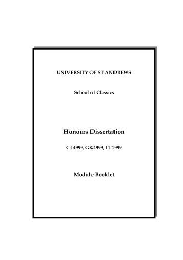 University of st andrews library thesis dissertations