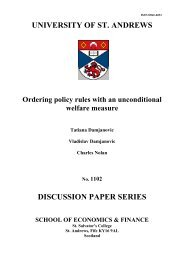 UNIVERSITY OF ST. ANDREWS DISCUSSION PAPER SERIES
