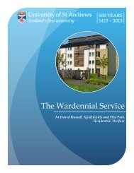 Wardennial Service Brochure - University of St Andrews