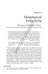 Metaphysical Subjectivity - University of St Andrews