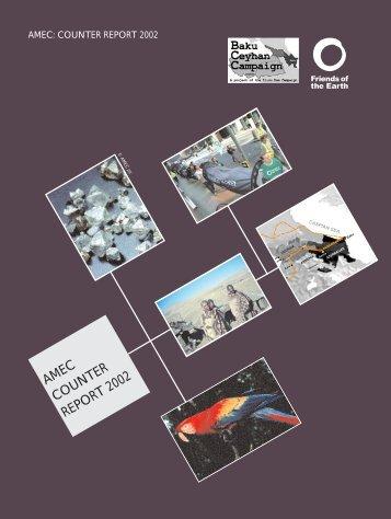 AMEC counter report 2002 - University of St Andrews