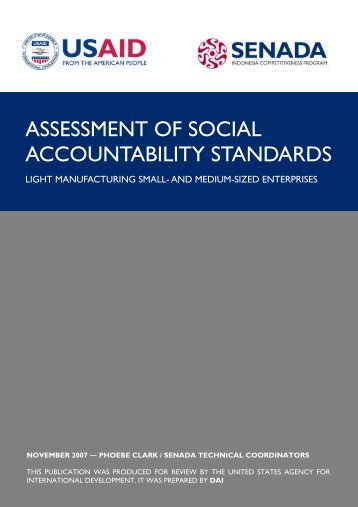 assessment of social accountability standards - part - USAid