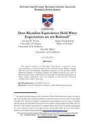 Does Ricardian Equivalence Hold When Expectations are not ...