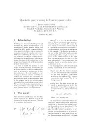 Quadratic programming for learning sparse codes