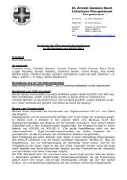 Protokoll AJ PGR 20120202 - Katholische Pfarrgemeinde St. Arnold ...