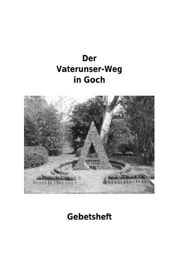 Der Vaterunser-Weg in Goch Gebetsheft - Katholische ...
