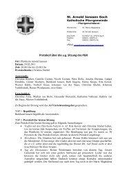 Protokoll PGR 24.02 - Katholische Pfarrgemeinde St. Arnold Janssen