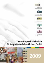 Konzerngeschäftsbericht St. Augustinus Gelsenkirchen GmbH