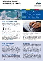 Internet und Mail in der Klinik - St. Augustinus Gelsenkirchen GmbH