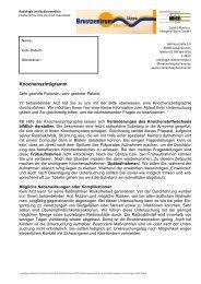 Aufklärungsbogen Knochenszintigramm - Sankt Marien-Hospital Buer