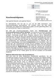 Knochenszintigramm - St. Augustinus Gelsenkirchen GmbH