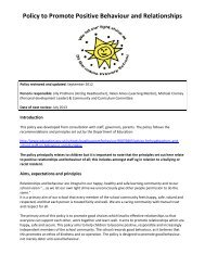 Policy to Promote Positive Behaviour and Relationships