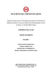 CONTRACT NO: CC-08 - Delhi Metro Rail Corporation