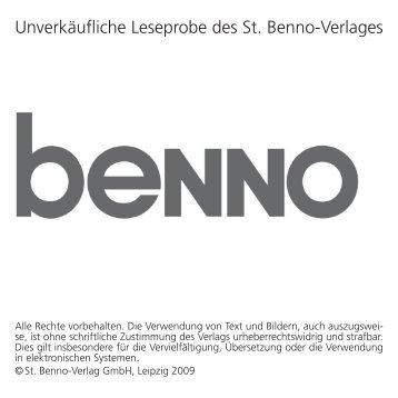 Unverkäufliche Leseprobe des St. Benno-Verlages