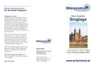 Singtage - Bildungszentrum St. Bernhard