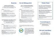 für die Bildungsarbeit - Bildungszentrum St. Bernhard