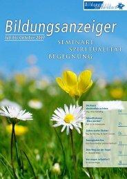 SEMINARE SPIRITUALITäT BEGEGNUNG - Bildungszentrum St ...