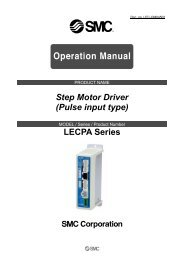 Step Motor Driver (Pulse input type) LECPA Series - SMC Etech