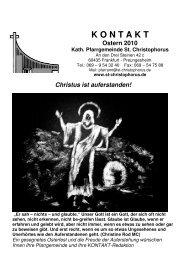 Ausgabe Ostern 2010 - St. Christophorus