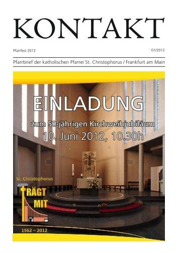 Ausgabe 50-jähriges Kirchweihjubiläum 2012 - St. Christophorus