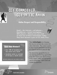 Get Connected, Get in the Know: Online Respect and Responsibility