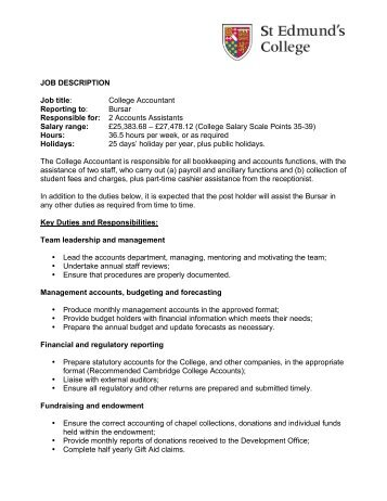 Job Description Job Title Cleaning Team    Bexley College