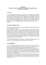 Appendix 1 - St Edmund's College - University of Cambridge