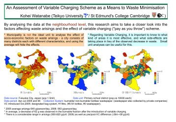 An Assessment of Variable Charging Scheme as a Means to Waste ...