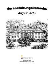 08-12 Veranstaltungskalender August 2012 - St. Elisabeth, Wohnen ...