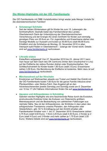 Die Herbst-Highlights mit der OÖ Familienkarte - St. Florian am Inn