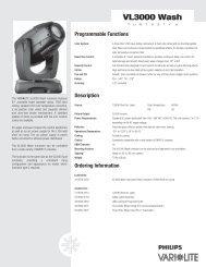 VL3000 Wash - Vari-Lite