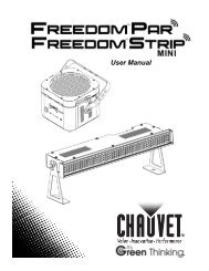 Chauvet Freedom Strip Mini User's Manual - UniqueSquared.com