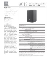 AC15 Ultra Compact 2-way Loudspeaker System with 1 - 5.25