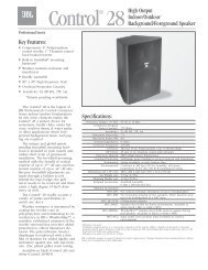 Control Contractor Ceiling Loudspeakers - JBL Professional on