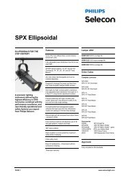 SPX Ellipsoidal - Specification Sheet - Strand Lighting