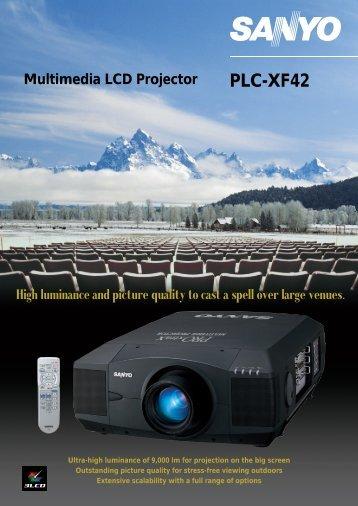 View Sanyo PLC-XF42 / Eiki LC-XT9 Specs - AV Chicago