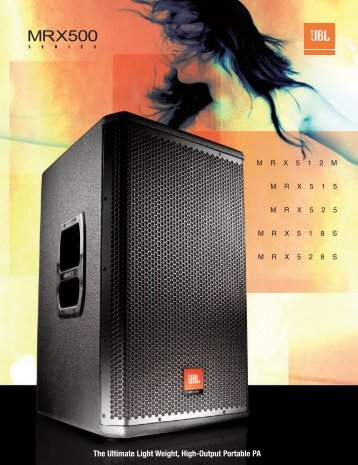 View JBL MRX Series Brochure - AV Chicago