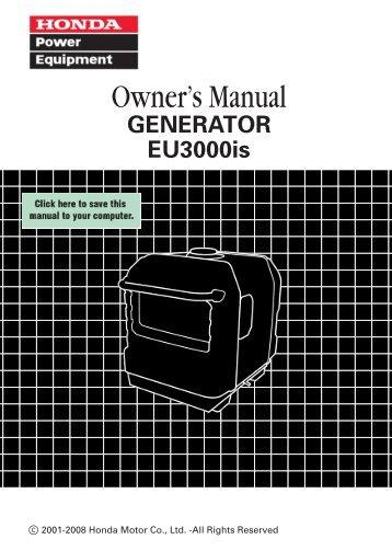 honda eu3000is manual hollywood studio rentals rh yumpu com honda eu3000is service manual download eu3000is repair manual