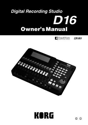 To Download: D16_OM.pdf - Korg