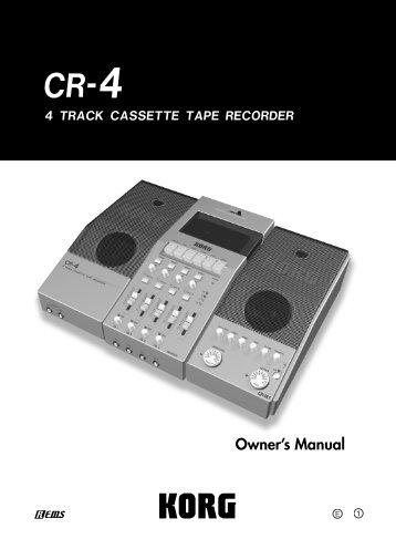 Owner's Manual - Korg
