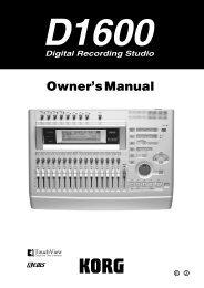 Operating manual - Korg
