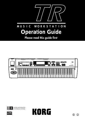 TR Operation guide - Korg