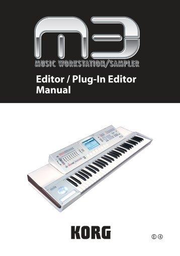 M3 Editor/Plug-In Editor Manual - Korg