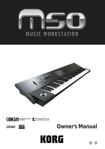 M50 Owner's Manual - Korg