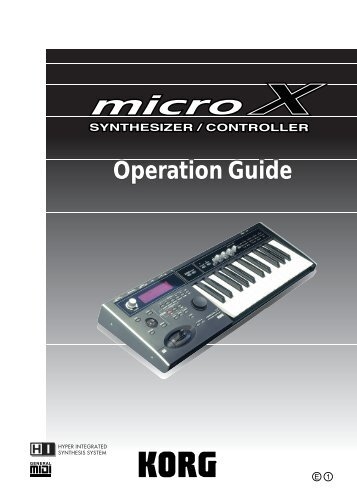 To Download: microX_OpGuide_E1.pdf - Korg