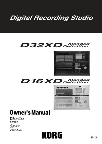 2. Turn the D32XD/D16XD on - Korg