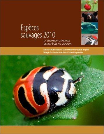 Espèces sauvages 2010 - Publications du gouvernement du Canada